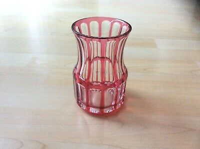 Vintage Saint Louis French Cut Crystal Ruby Red Vase comprar usado  Enviando para Brazil