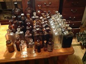 50 Old Medical and Poison Bottles Tivoli Ipswich City Preview