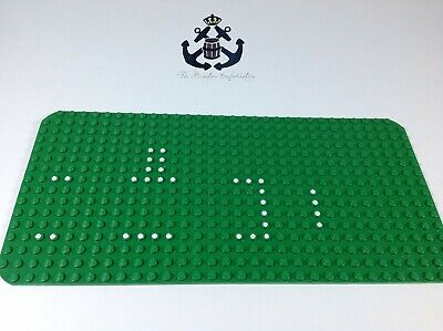Lego Vintage 1970s Green Baseplate Baseplate 16 x 32 Set 356/540 Dots 3857pb01