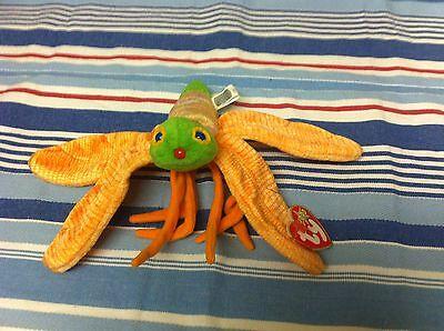 TY Beanie Baby GLOW JANUARY 2000 BUTTERFLY PE PELLET Toy NEW Birthday Gift Butterfly Beanie Baby
