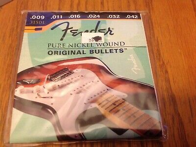 FENDER ORIGINAL BULLETS 3150L PURE NICKEL ELECTRIC GUITAR STRINGS 9-42 LIGHT