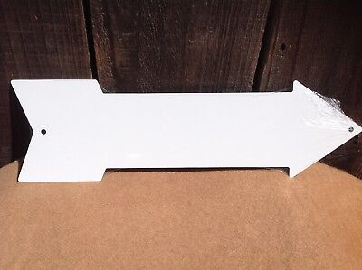 Directional Sign (White Plain Blank This Way To Arrow Sign Directional Novelty Metal 17