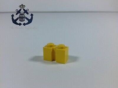 Lego Vintage 1980s Yellow Brick, Modified 1 x 2 with Groove 4216 For Set 6383