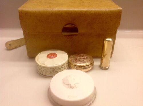 Vintage Yardley Makeup Case With 4 vintage cosmetic pieces