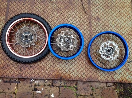 Bike rims blue