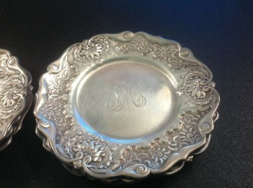 Set of 9 Sterling Silver  Antique  Candy Nut Dishes