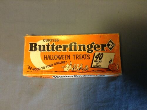 Vintage Curtiss Butterfinger 2 Cent Halloween Treats Candy Box Dated 1958