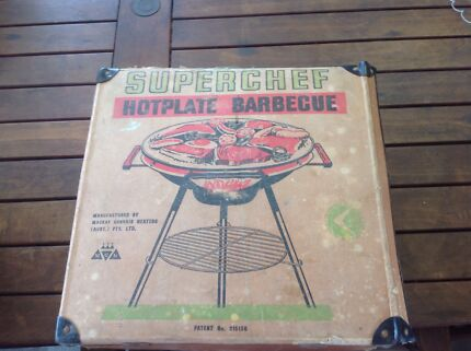 60's Superchef old fashioned 3 legs BBQ in original box Marden Norwood Area Preview