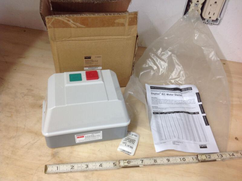 Dayton 2UXV3, IEC Motor Starter IEC Contactor, 240VAC, 9A, NEMA 12, 3P.  NEW