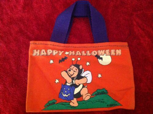 Winnie the Pooh Mini Canvas Trick or Treat Happy Halloween Bag Purse