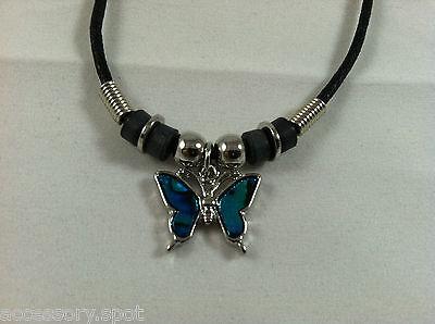 Butterfly Paua Shell - Beautiful Natural Abalone Paua Shell Butterfly Pendant Necklace
