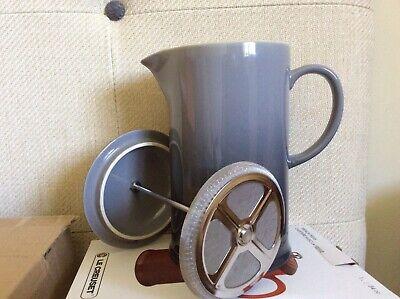 Le Creuset brand new coffee pot w/ metal press cafetière, flint grey in box