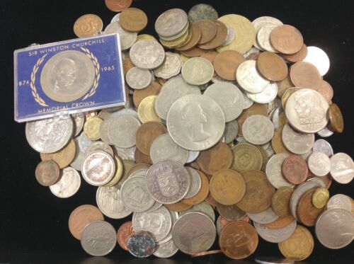 Wholesale 2.9 Pound Lot of Foreign / World Coins - A Wonderful Selection & Value
