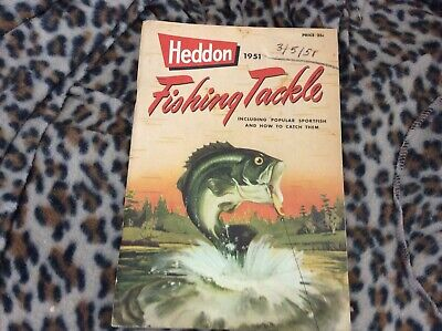 Vintage 1951 Heddon Fishing Tackle Catalog Sportfish