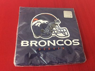 NWT   NFL Football Party Supplies DENVER BRONCOS LUNCH DINNER NAPKINS (S3)