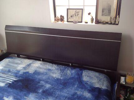 Queen bed head, bedside table, two queen mattresses North Parramatta Parramatta Area Preview