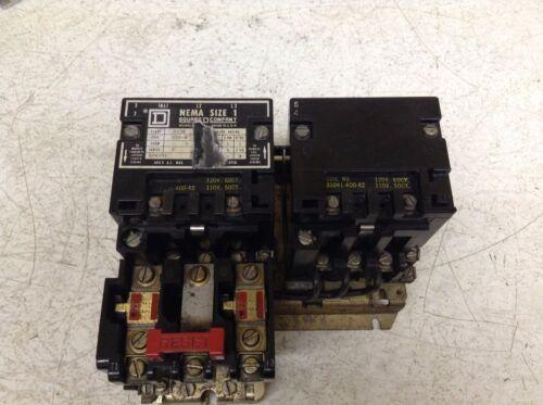 Square D 8736 SCO-8 S Motor Starter 120/110 V Coil Size 1 8736 SC0-8 8736SCO8S