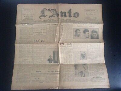 Journal L'auto de 1920