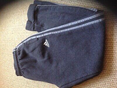 Adidas grey cotton slim fit joggers size M