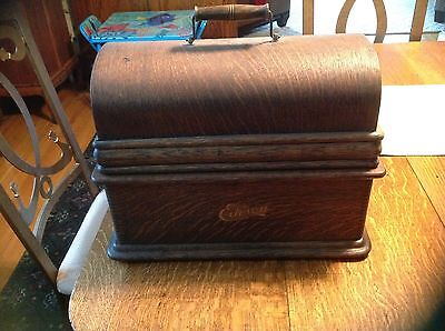 Edison Home Phonograph model B cabinet and lid