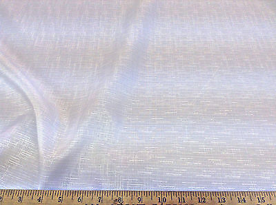Discount-Fabric-Upholstery-Drapery-Linen-Look-Wild-Rice-Pattern-Solid-White-DR24