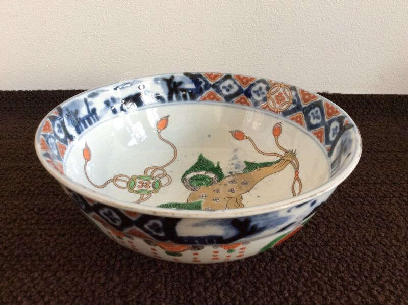 EDO ERA Collection [ OLD IMARI ] Big Bowl / w 25× h 10(cm)
