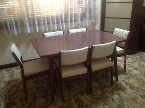 Dining suite+ 6 chairs $190+buffet $145retro 1970's rosewood Bicton Melville Area Preview