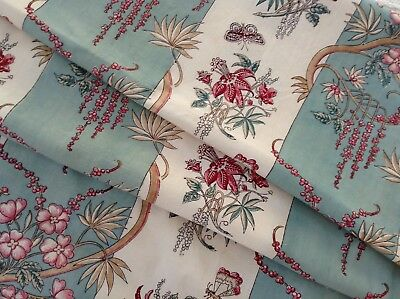 (Antique French block printed  cotton/ linen  Indienne type design  32.5