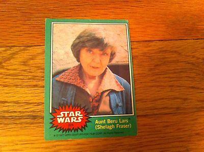 1977 Star Wars Trading Card #225 Aunt Beru Lars Shelagh Fraser Green Movie Film