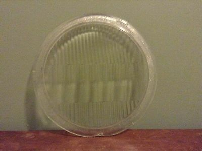 "Old GUIDE Clear Glass TILT RAY GL-148 Head Light LENS Lamp 9"" x 7 5/8"" AnTiQuE"