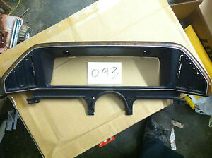 1987 1991 Ford Truck F150 F250 F350 Bronco Dash Cluster Instrument Panel Bezel