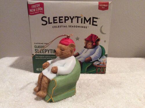 Collectible CELESTIAL SEASONINGS 25th Anniversary Bear Christmas Ornament