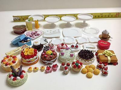 Dollhouse Miniature Beautiful Assorted Cake Pastries Bakery n Drinks Set 1:12