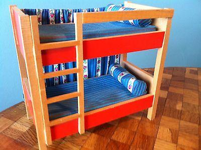 Etagenbett Kinderbett Bett Bodo Hennig Puppenhaus Puppenstube 1:12 dollhouse ()