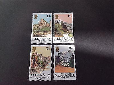 GB ALDERNEY1986 ALDERNEY FORTS SG A28-31 FULL SET MNH