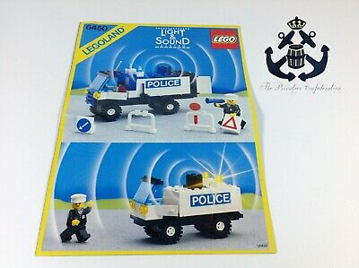 Lego Vintage Instructions Mobile Police Truck Set 6450-1 Classic Town, Police