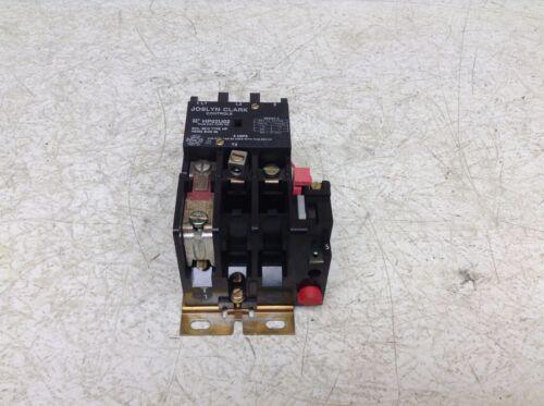 Joslyn Clark HP02U02 Single Phase Starter Contactor Size 00 6013 120 VAC Coil