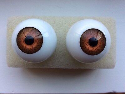 26mm Blue Green Glastic Realistic Acrylic Doll Eyes