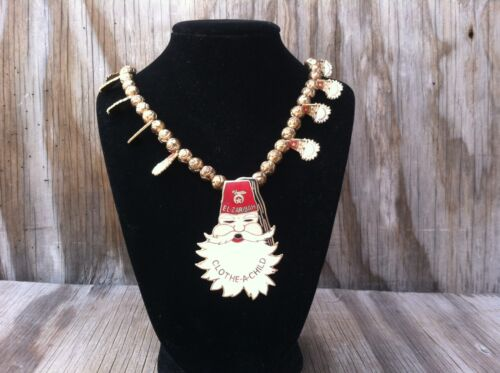 El Zaribah Santa Claus Clothe-A-Child Jewelry Necklace 21 Inch Christmas