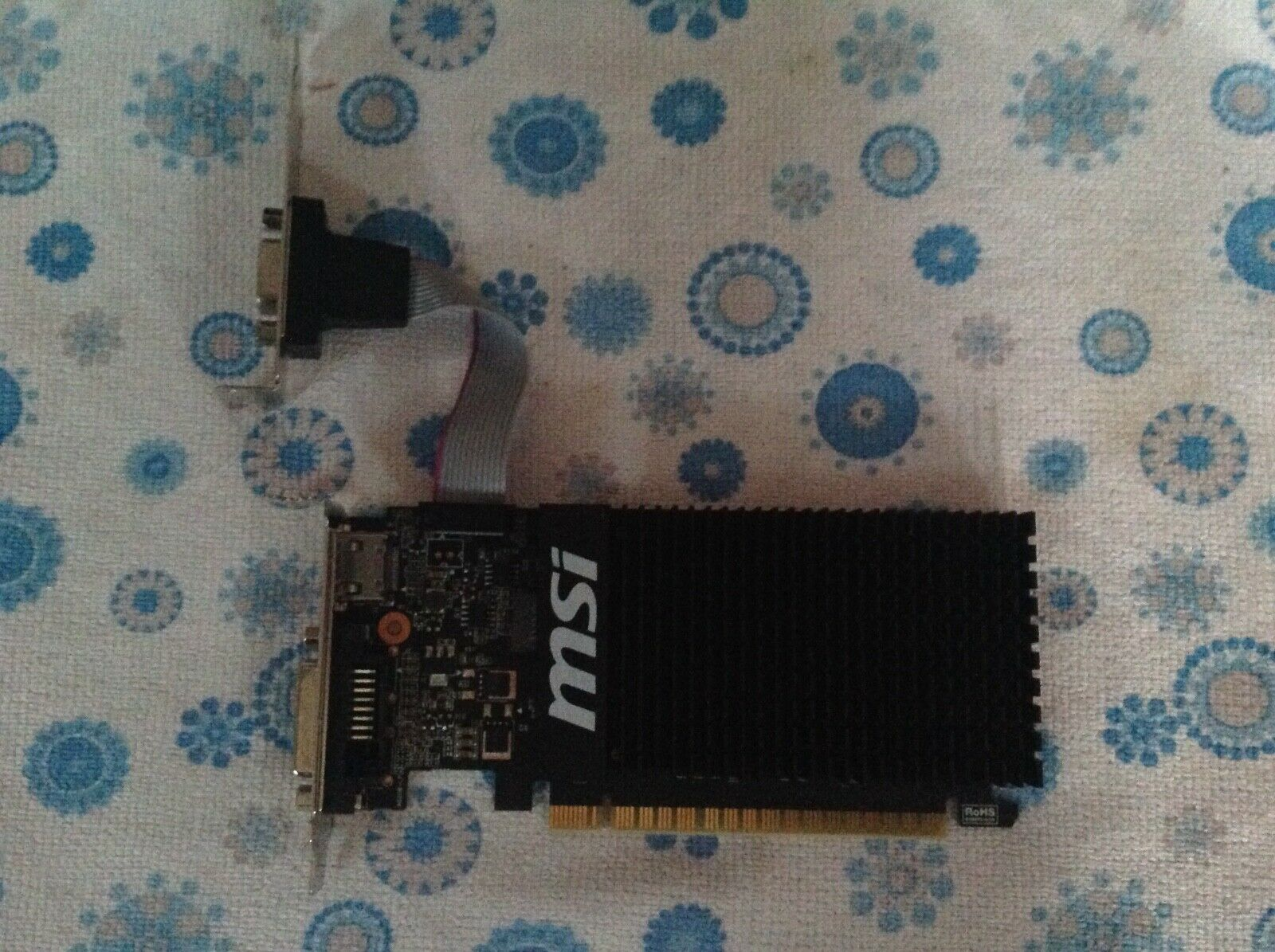 Carte graphique msi nvdia geforce gt710 2 goddr3 dvi vga hdmi pci-e low profile
