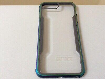 X-Doria Defense Shield iPhone 7+  8+ Case, Anodized Aluminum Iridescent EUC