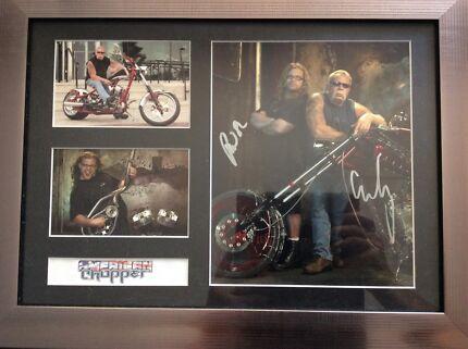 Signed American Chopper Micky & Paul Sr frame Coa