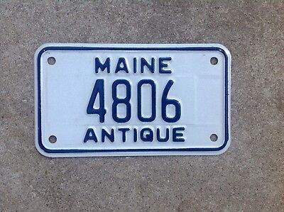 """MAINE - """"ANTIQUE MOTORCYCLE"""" - LICENSE PLATE"""