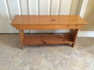 Matching Pine Bench, Table, Magazine rack