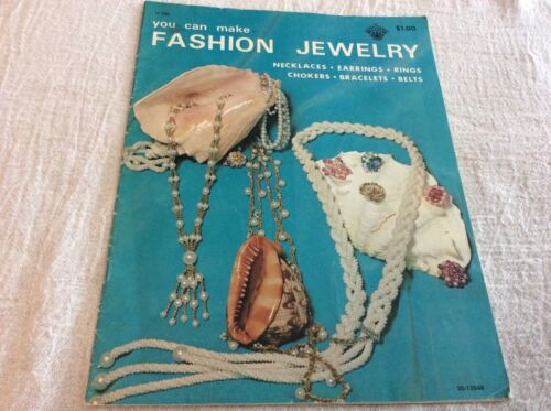 Vintage 1971 You Can Make Fashion Jewelry Pattern Leaflet Beading Crochet Craft