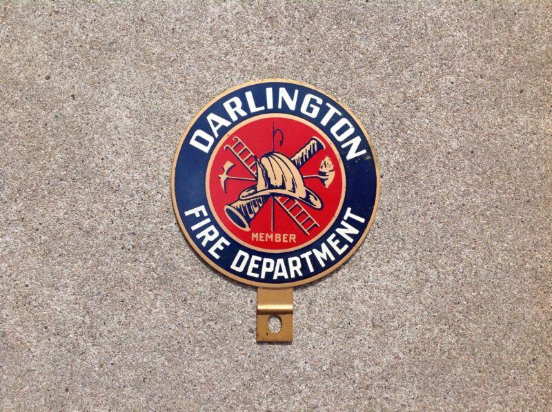 DARLINGTON FIRE DEPARTMENT - LICENSE PLATE TOPPER