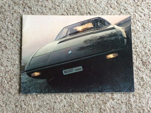1975 Maserati Khamsin  original dealership showroom deluxe color sales catalogue
