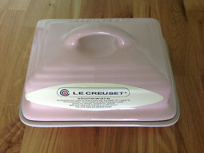 NEW Le Creuset Butter Dish PINK stoneware  RRP £35