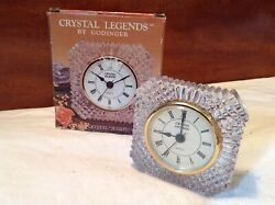Crystal Legends 24% Lead Crystal Jubilee Clock  By Godinger **NEW IN BOX**