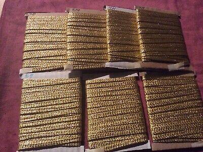 28 m Borte, Gold,  für Kostüme, Fasching, - Kostüme Für Karneval